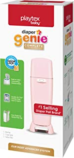 Playtex Diaper Genie Complete Pail with Built-In Odor Controlling Antimicrobial, Includes