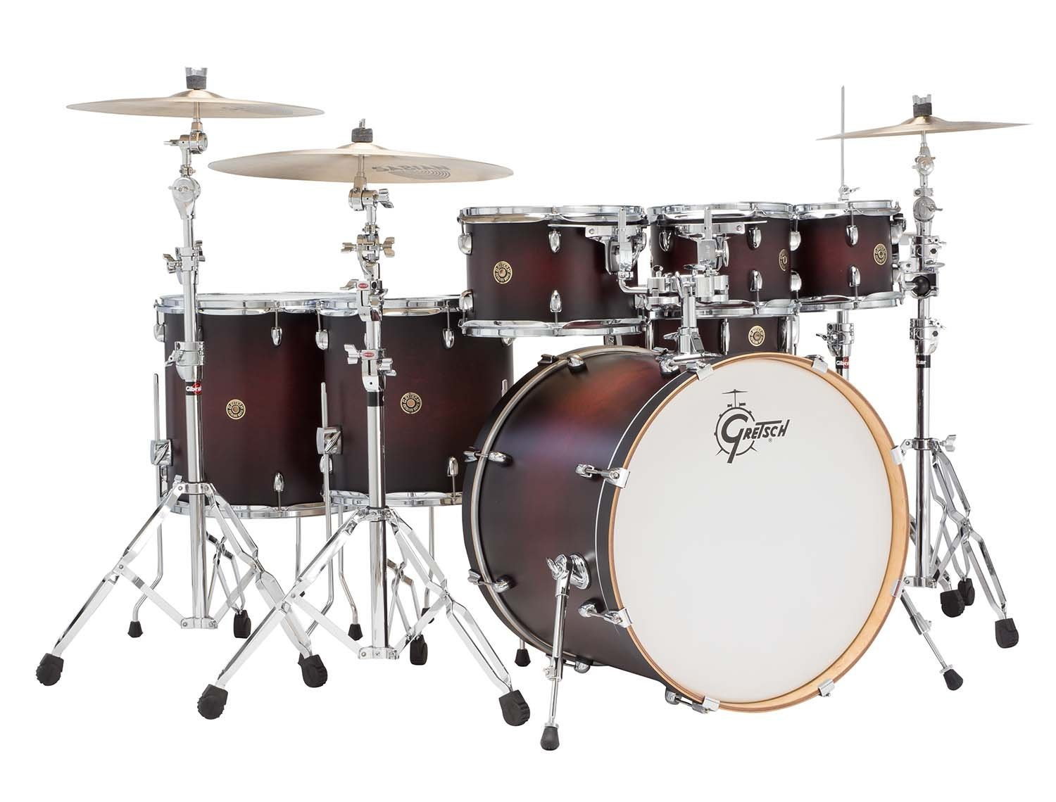 Gretsch CM1E826PSDCB 2014 Catalina Maple 6 Piece Shell Pack With 8 Inch Tom Satin Deep Cherry Burst Amazonca Musical Instruments Stage Studio