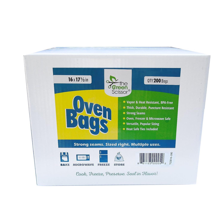 The Green Scissor Oven Bag 16 x 17.5 in - 200 box