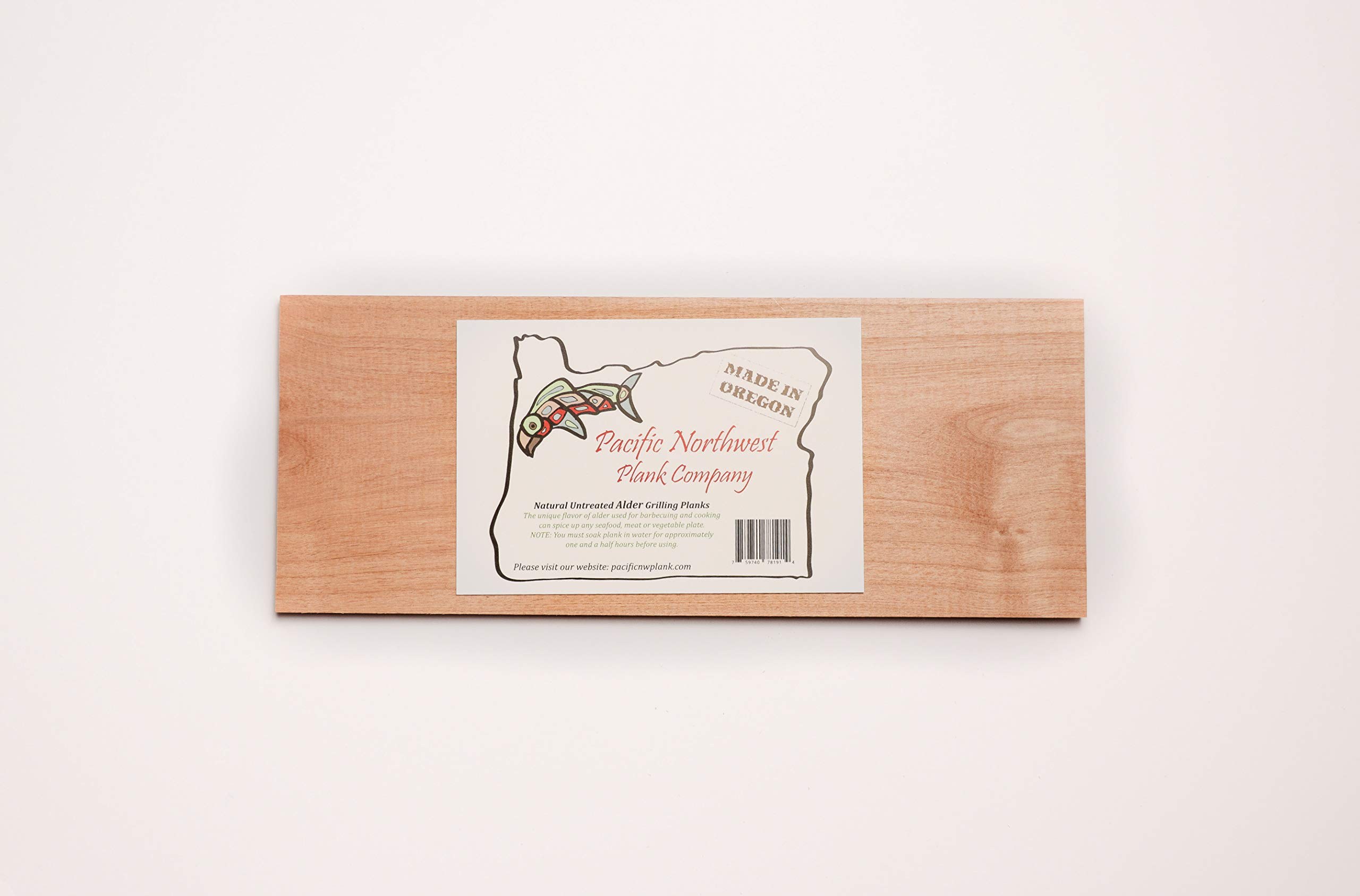 Alder Grilling Planks - 10 Pack 5 1/2'' x 12'' Premium Grilling Planks by Pacific Northwest Plank Company