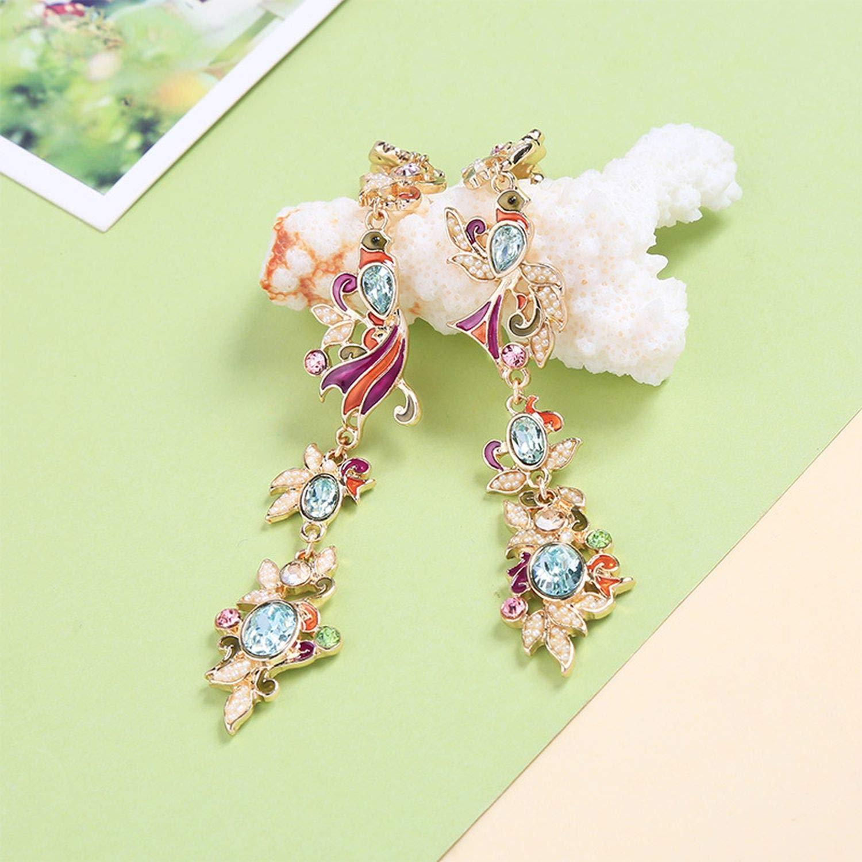 Jewelry Pretty Romantic Flower Drop Earring Enamel Earrings