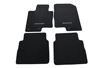 Carpet Floor Mats >> Hyundai Genuine Accessories 3qf14 Ac200ry Black Front And Rear Carpet Floor Mat Sonata Sonata Hybrid