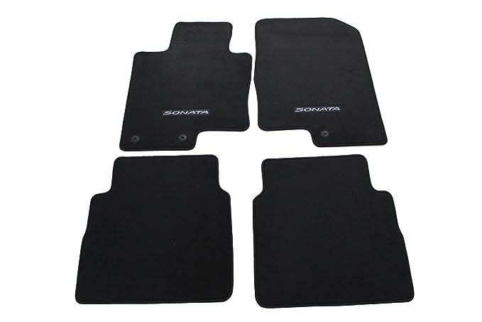 Amazon.com: HYUNDAI Genuine Accessories 3QF14-AC200RY Black Front and Rear Carpet Floor Mat Sonata Sonata Hybrid: Automotive
