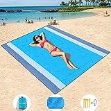 "Mumu Sugar Sand Free Beach Mat Oversized 82"" X79"" Sand Proof Beach Blanket Outdoor Picnic Mat for Travel, Camping, Hiking and"