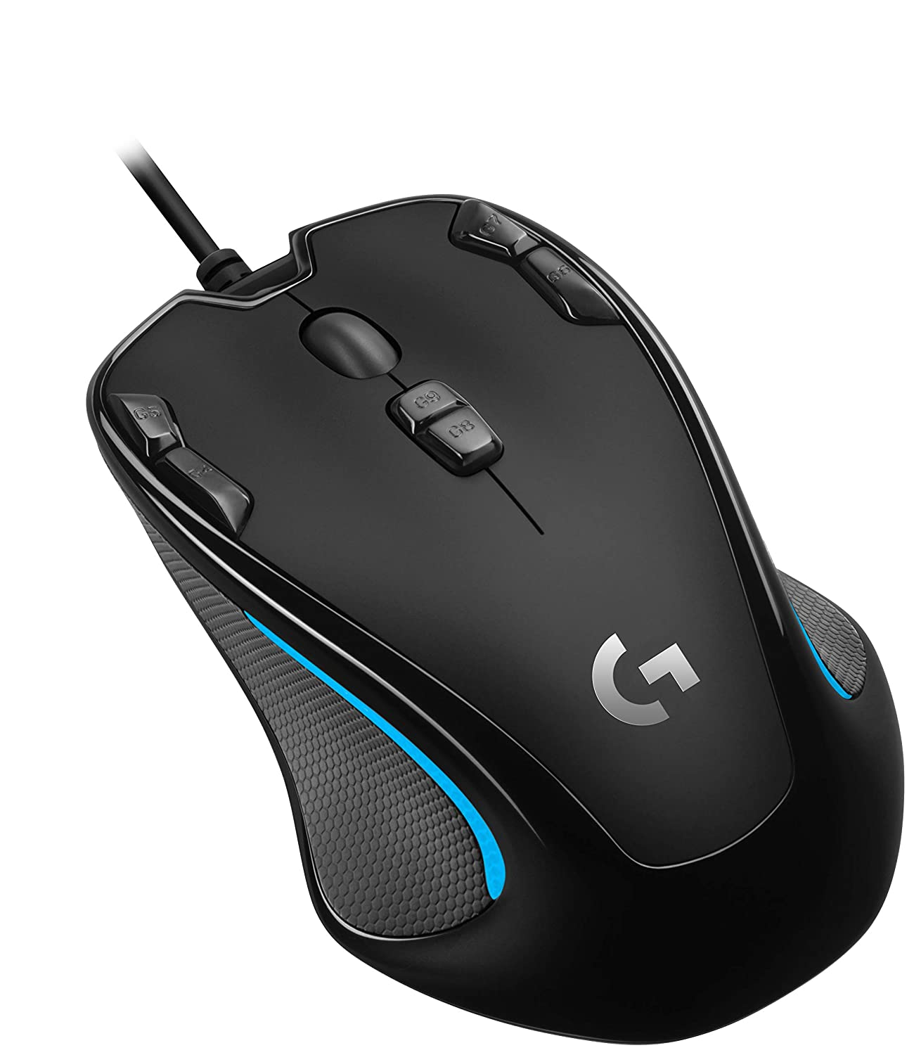 Logitech G300s Optical Ambidextrous Gaming Mouse 9 Programmable Buttons, Onboard Memory