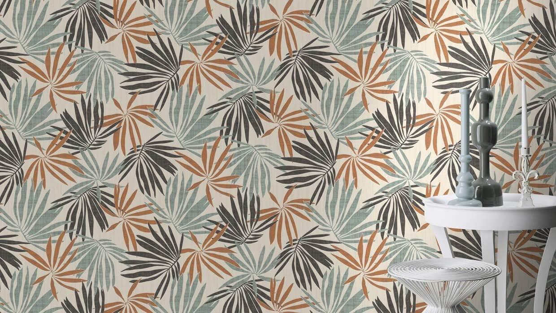 Rasch 535433 Yucatan Papier peint intiss/é Vert olive 10,05 m x 0,53 m