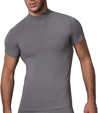 9034b1b24f Doreanse Underwear Herren Stehkragen Shirt Business Unterhemd Slim Fit T- Shirt Männer: Amazon.de: Bekleidung