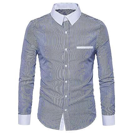 Chemise RayéE à Manches Longues Homme Lolittas Outwear Mince Chemises  Hommes Soldes Sans Repassage Slim Fit 89d07b3c0e0c