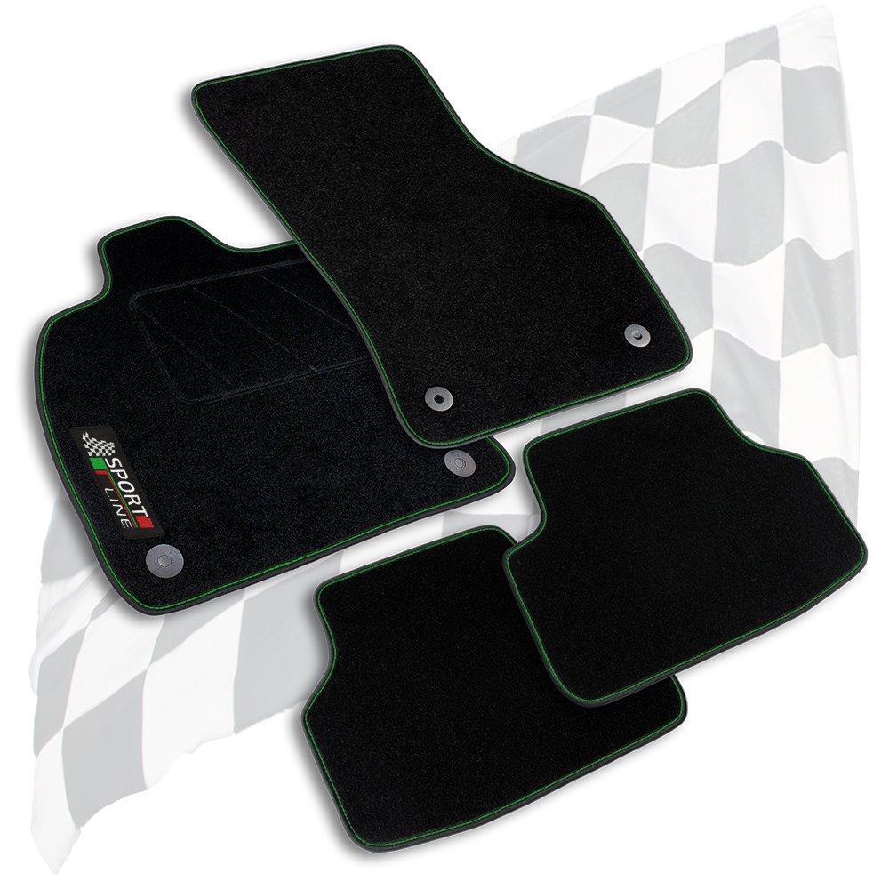 Velours anthrazit Fußmatten passend für Toyota Avensis 3 Typ T27 FACELIFT 2011