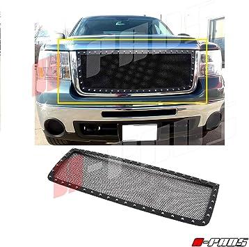 For 2007 2008 2009 2010 GMC Sierra 2500//3500 HD Upper Grille Steel Black Mesh
