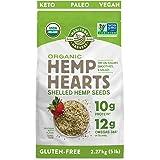 Manitoba Harvest Organic Hemp Hearts Shelled Hemp Seeds, 5lb; 10g Plant-Based Protein & 12g Omegas per Serving, Whole 30 Appr