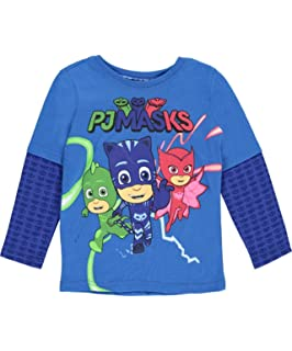 PJMASKS PJ Masks Long Sleeve T-Shirt Catboy, Owlette, Gekko Long Sleeve 2Fer