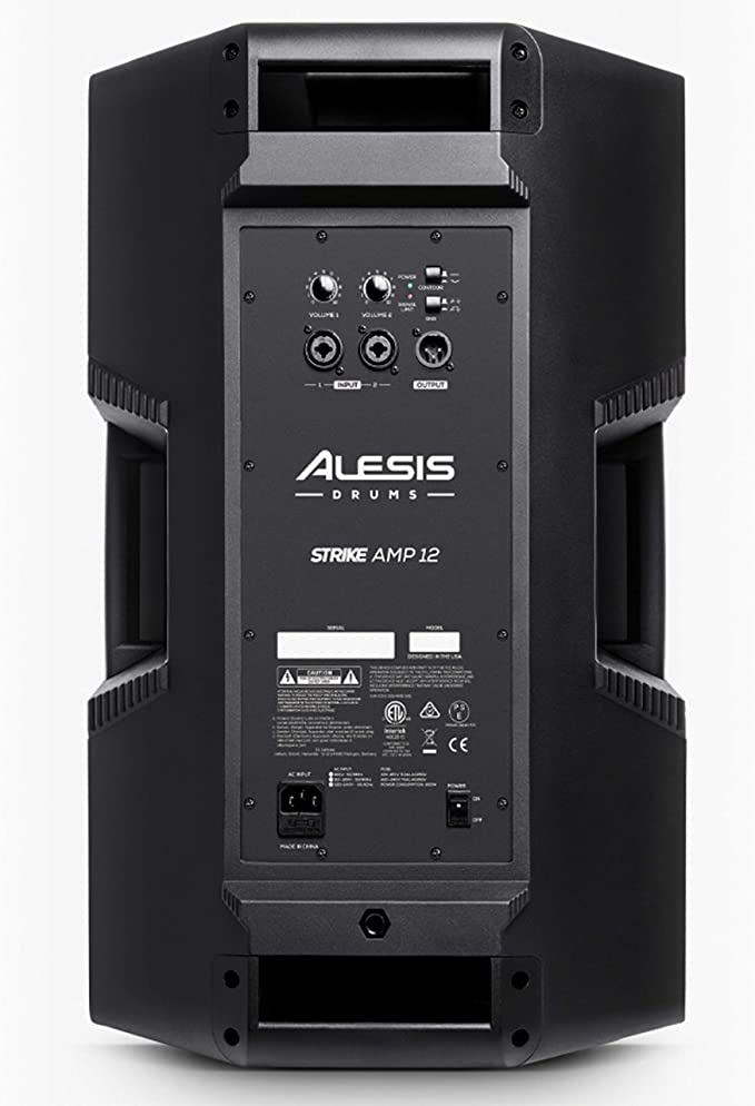 Alesis Command Mesh Kit Strike Amp 12 8-Piece All-Mesh Electronic Drum Kit with Mesh Heads Bundled with 2000-Watt Ultra-Portable Powered Drum Speaker//Amplifier