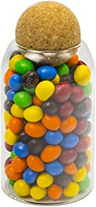 Bay Heights 26oz(760ml) Glass Jar with Cork Ball Lids Round, Creative Ball Shape Airtight Cap Plug, for Bathroom Food Organizer Storage Containers Bottle