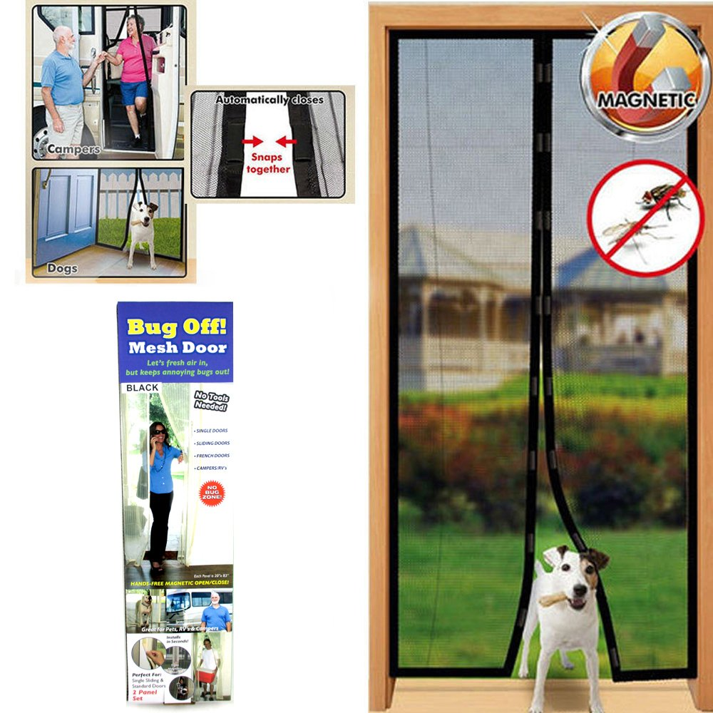 Instant Mesh Screen Door Magnetic Hands Free Bug Mosquito Fly Pet Patio Net  New     Amazon.com