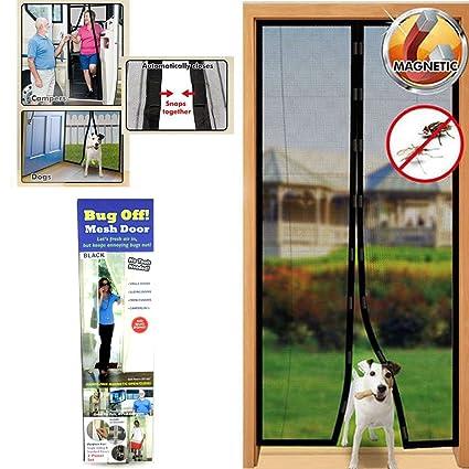 Instant Mesh Screen Door Magnetic Hands Free Bug Mosquito Fly Pet Patio Net  New