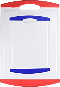 2pc Essential Cutting Board Set | Dishwasher Safe, Non Slip, Soft Grip, Easy to Clean (Large & Small)