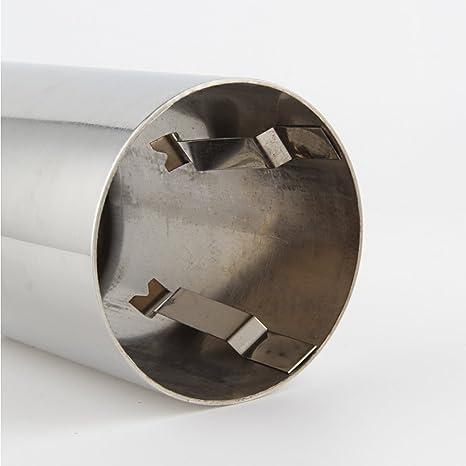 Takpart 1 Paar 75mm Edelstahl Endschalldämpfer Endrohr Auspuffendrohr Auspuffblende Für A4 B8 Auto