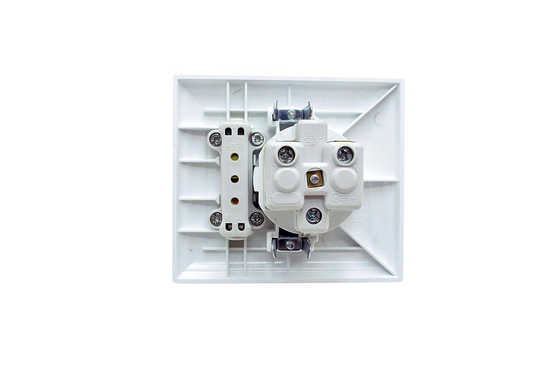 Gunsan Schutzkontakt-Steckdose mit Universalschalter 01151100100716