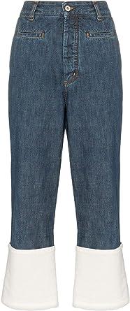 Loewe S2292110ib5475 Pantalones Vaqueros De Algodon Para Mujer Color Azul Azul Azul Talla De Marca 34 Fr Amazon Es Ropa Y Accesorios