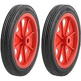 "TOOGOO(R) 2 Pcs Replaceable Shopping Basket Cart 4.4"" Wheels Red Black"
