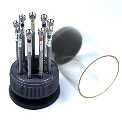 New 9 pcs Precision Watch Flat Blade Slotted Screwdriver Set Watchmakers Tools: Home Improvement