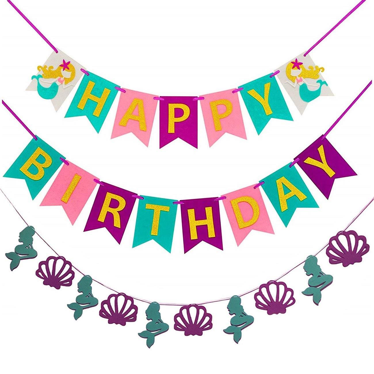 Amazon.com: Pancarta de felicitación de cumpleaños con ...