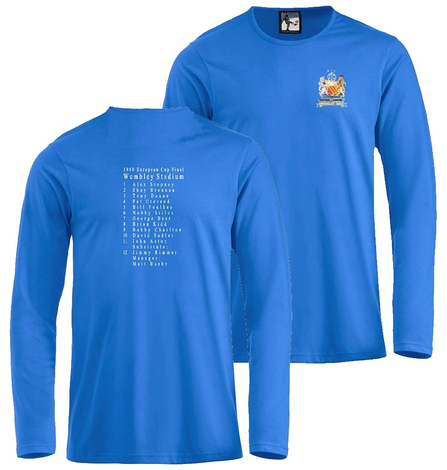 Manchester United European Cup Final 1968 50th Year Anniversary Football  Long-Sleeve T-Shirt  Amazon.co.uk  Sports   Outdoors e385962d9