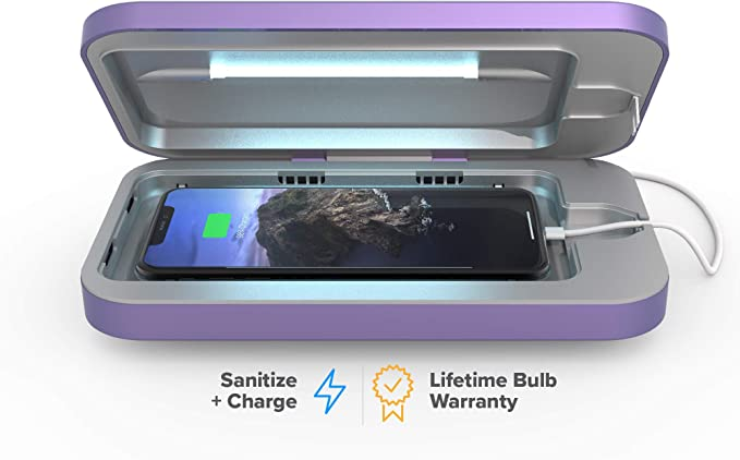 PhoneSoap 3 UV Smartphone Sanitizer & Universal Charger | Patented & Clinically Proven UV Light Disinfector | (Periwinkle)