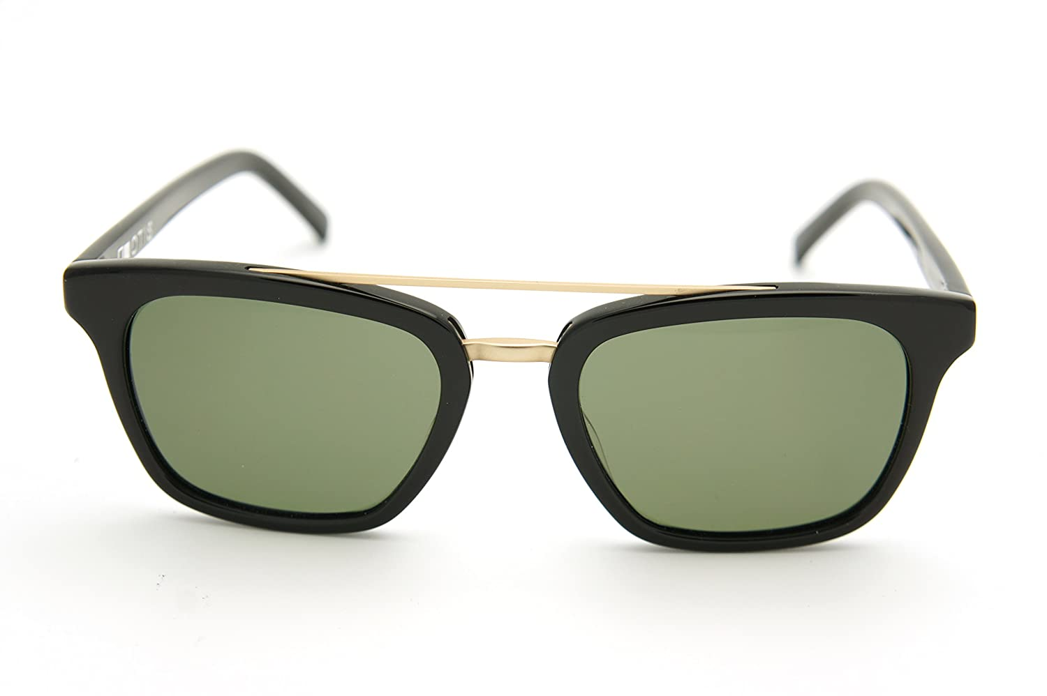 b3b11f2bd40 Amazon.com  Otis Non Fiction Polarized Sunglasses (shiny black green  polarized