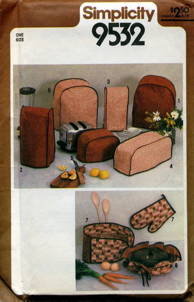 Kitchen Appliance Covers for Casserole, Blender, Coffee Maker, Mixer, Toaster, Food Processor and Pot Holders ~ One Size