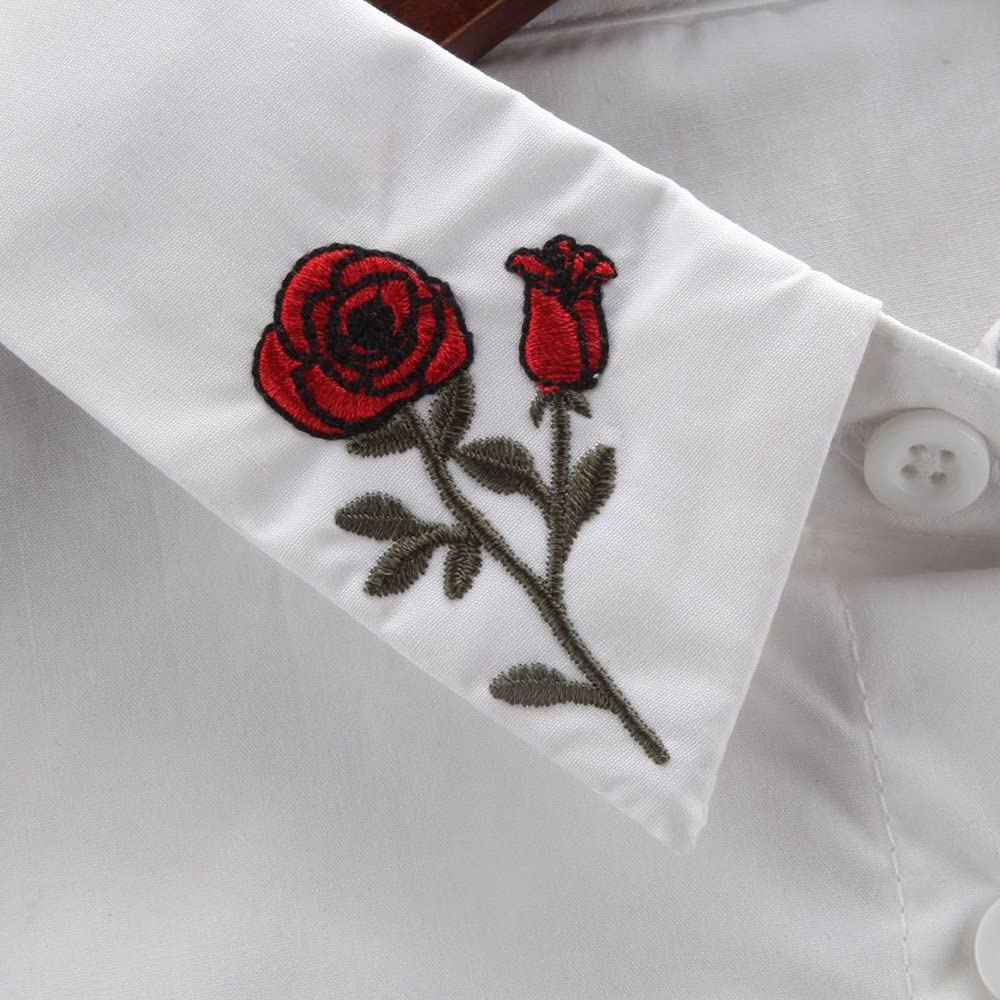Hongxin Embroidery Tie Detachable Shirt Fake False Collar Lapel Clothes accessories Peter Pan Lapel Shirt Collar