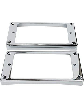 Guyker 2Pcs Pickup Mounting Rings for Humbucker – Metal Bridge and Neck Pickups Cover Frame Curved