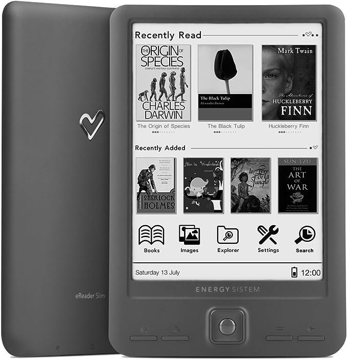 Energy Sistem eReader Slim - Lector de libros electrónicos de 6