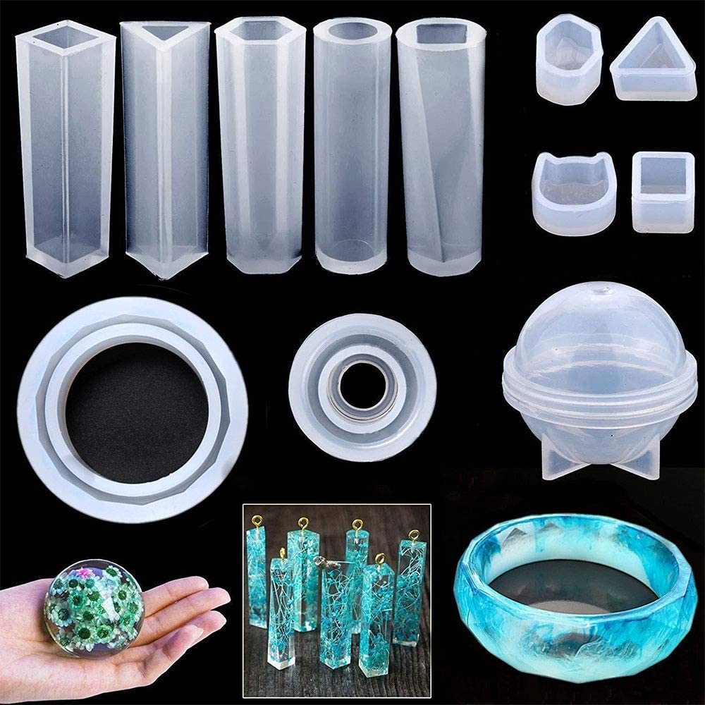 83Pack Jewelry Casting Molds Silicone Resin Jewelry Molds for DIY Jewelry Craft Making Epoxy Resin Mold Bracelet Pendant Sphere