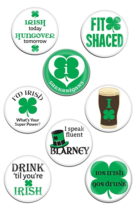 Amazoncom Simply Charmed St Patricks Day Irish Pins 8 Large