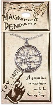 20 Angelstar 13865 Serenity Prayer Rose Magnifier Pendant