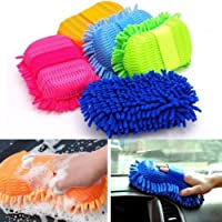 SHOPEE BRANDED Car Washing Sponge With Microfiber Washer Towel Duster For Cleaning Car. Bike Vehicle (Color May Vary) (1)