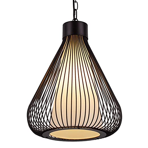 Aidos Industrial Retro Cage Ceiling Pendant Light Shades Metal Basket Lamp Vintage Wire Pendant Kitchen Pendent Lamp Oil Rubbed Bronze Hanging