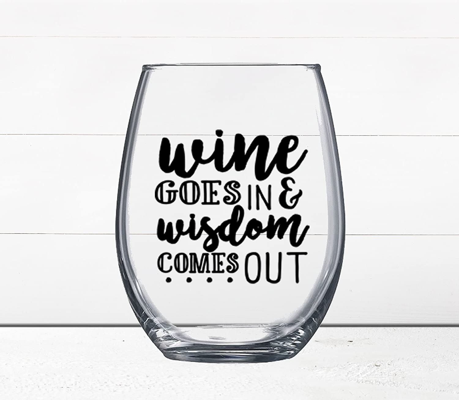 Amazon Com Gift Under 10 Funny Wine Glass Quotes On Wine Glass