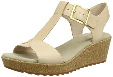 3f09941a1a7 Clarks Women s s Kamara Kiki Wedge Heels Sandals  Amazon.co.uk ...