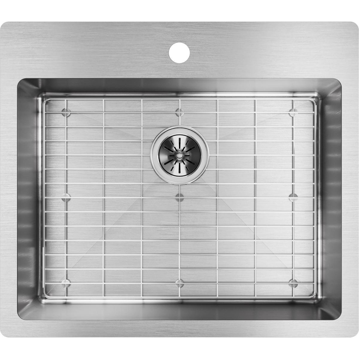 Elkay Crosstown ECTSR25229TBG1 Single Bowl Dual Mount Stainless Steel Kitchen Sink Kit