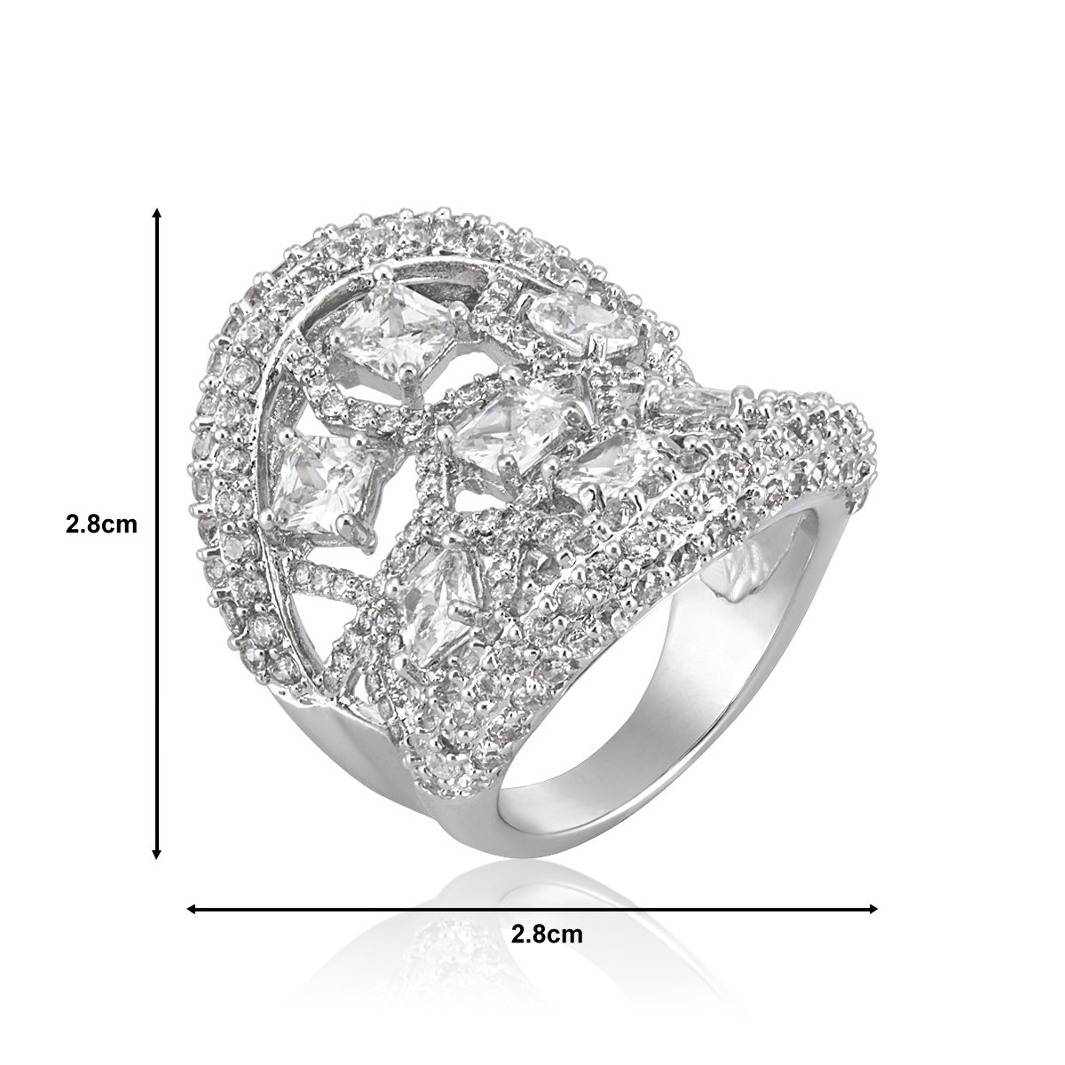 Sterling Silver Rhodium Plated Synthetic CZ Letter E with Lobster Clasp Charm 0.9in long