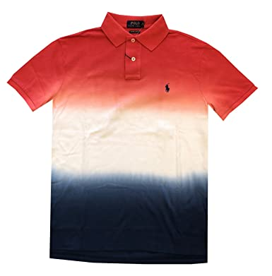 44636d5e2 Polo Ralph Lauren Mens Custom Slim Fit Mesh Polo T-Shirt (M, Red ...
