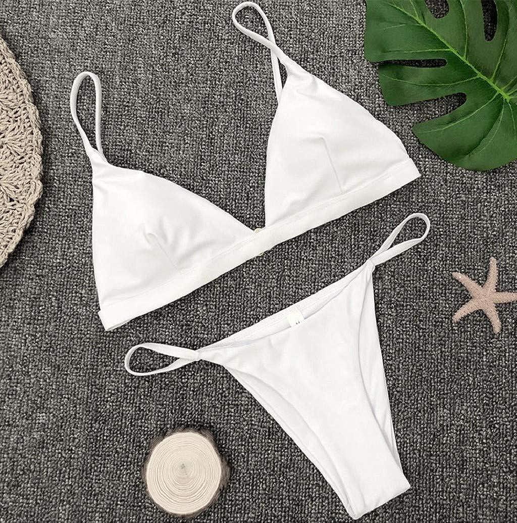 Nevera Pure Color Bikini Set Brazilian Swimwear Two Pieces Push Up Triangle Swimsuit for Women Girls