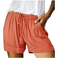 Sopzxclim Womens Printed Wide Leg Causal Shorts Drawstring Elastic Waist Summer Shorts Loose Fit Lounge Short Pants