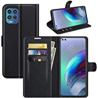 Capa Capinha Carteira De Couro Preta Para Motorola Moto G100 / Edge S com Tela de 6.7 Polegadas Flip Magnética com…