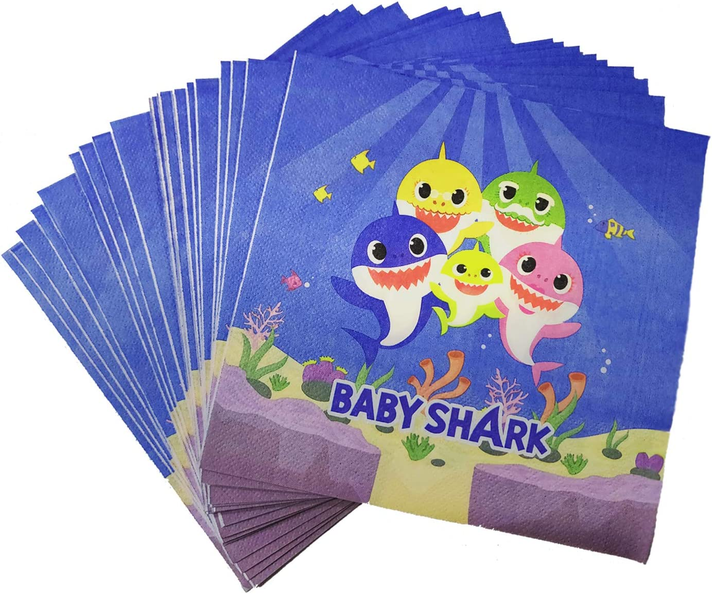 40 Pcs Baby Napkins, Baby Dessert Tableware Disposable Paper Napkins for Baby Shower Kids Birthday Party Decorations Supplies