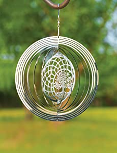 VP Home Kinetic 3D Metal Outdoor Garden Decor Wind Spinner (Tree of Life Dreamcatcher)