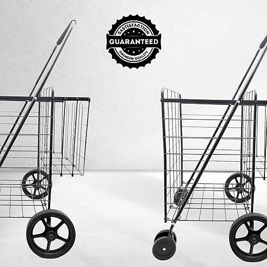 110 L Pack of 3 Black Powder Coat Advance Carts 110x-Black-3pack X-Series Shopping Cart